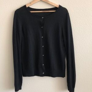 EUC Ann Taylor Black Sweater Cardigan SZ Large
